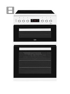 Beko KDC653W 60cm Electric Cooker with Ceramic Hob - White Best Price, Cheapest Prices