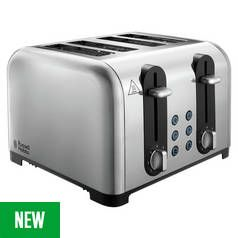 Russell Hobbs Worcester 4 Slice Toaster - Stainless Steel Best Price, Cheapest Prices