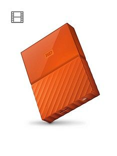 Western Digital My Passport 1TB Portable External Hard Drive - Orange Best Price, Cheapest Prices