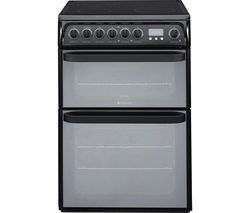 HOTPOINT Ultima DUE61BC Electric Ceramic Cooker – Black Best Price, Cheapest Prices