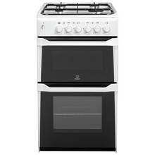 Indesit ITL50GW Twin Gas Cooker - White Best Price, Cheapest Prices