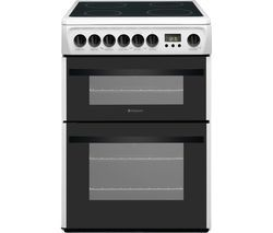 HOTPOINT Newstyle DCN60P 60 cm Electric Ceramic Cooker - White Best Price, Cheapest Prices