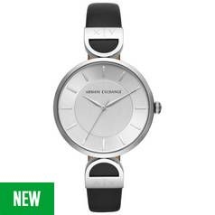 Armani Exchange AX5323 Ladies' Black Leather Strap Watch Best Price, Cheapest Prices