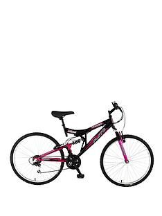 Flite Taser Dual Suspension Ladies Mountain Bike 18 Inch Frame Best Price, Cheapest Prices