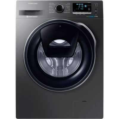 Samsung AddWash™ ecobubble™ WW80K6414QX 8Kg Washing Machine with 1400 rpm - Graphite - A+++ Rated Best Price, Cheapest Prices