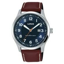 Lorus Men's Brown Leather Strap Date Box Watch Best Price, Cheapest Prices