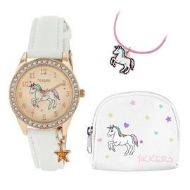 Tikkers Children's Unicorn Watch, Necklace & Purse Gift Set Best Price, Cheapest Prices