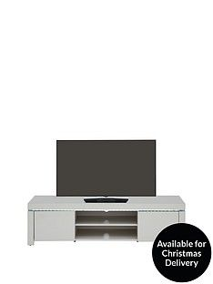Atlantic High Gloss TV Unit with LED Lights - Grey -fits up to 65 inch TV Best Price, Cheapest Prices