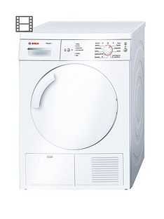 Bosch Serie 6 Classixx Wte84106Gb 7Kg Load Condenser Tumble Dryer With Sensitive Drying System - White Best Price, Cheapest Prices