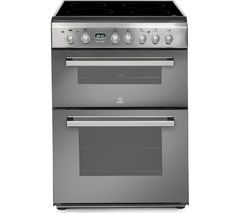 INDESIT DD60C2CX Double Electric Ceramic Cooker - Mirror Best Price, Cheapest Prices