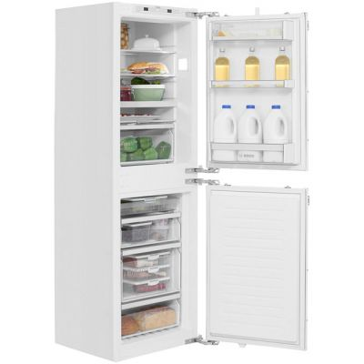 Bosch Serie 6 KIN85AF30G Integrated 50/50 Frost Free Fridge Freezer with Fixed Door Fixing Kit - White - A++ Rated Best Price, Cheapest Prices