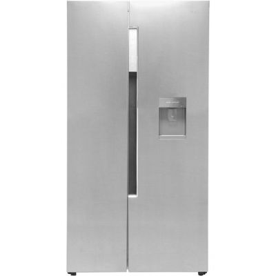 Haier HRF-522WM6 American Fridge Freezer - Stainless Steel Effect - A+ Rated Best Price, Cheapest Prices