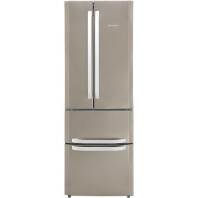 Hotpoint Day1 FFU4D.1X 60/40 Frost Free Fridge Freezer - Stainless Steel - A+ Rated Best Price, Cheapest Prices