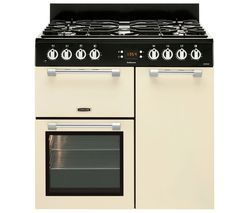 LEISURE Cookmaster 90 Dual Fuel Range Cooker - Cream Best Price, Cheapest Prices