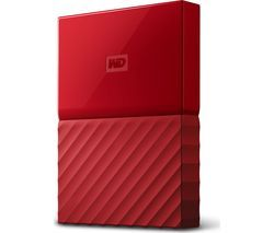 WD My Passport Portable Hard Drive - 2 TB, Red Best Price, Cheapest Prices