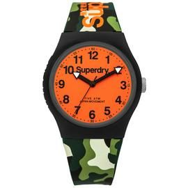 Superdry Men's Camouflage Silicone Strap Watch Best Price, Cheapest Prices