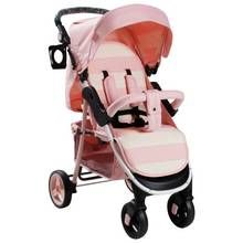 My Babiie Billie Faiers MB30 Pink Stripe Pushchair Best Price, Cheapest Prices