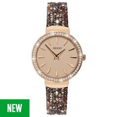 Seksy by Sekonda Rose Dial Ladies Brown Strap Watch Best Price, Cheapest Prices