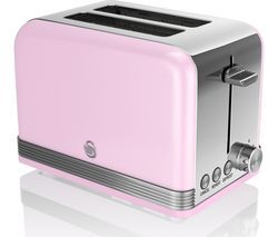 SWAN ST19010PN 2-Slice Toaster - Pink Best Price, Cheapest Prices
