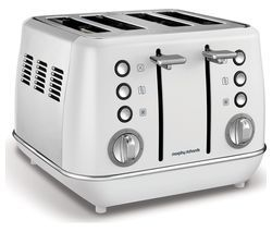 MORPHY RICHARDS Evoke One 4-Slice Toaster - White Best Price, Cheapest Prices