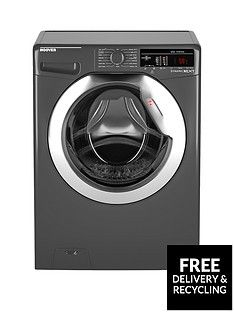 Hoover Dynamic Next Dxoa410C3R 10Kg Load, 1400 Spin Washing Machine With One Touch - Graphite Best Price, Cheapest Prices