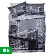 Argos Home New York Skyline Bedding Set - Double Best Price, Cheapest Prices