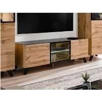 Wooden TV Unit with LED Lighting - TV's up to 63