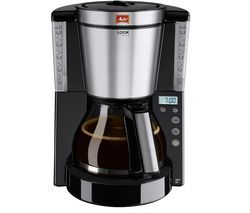 MELITTA Look IV Timer Filter Coffee Machine - Black Best Price, Cheapest Prices