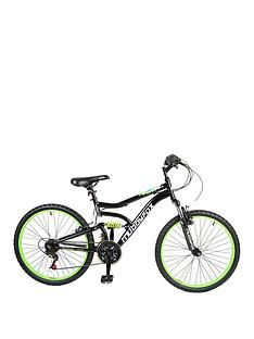 Muddyfox Delta Dual Suspension Boys Mountain Bike 24 inch Wheel Best Price, Cheapest Prices
