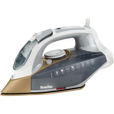 Breville PressXpress 2600W VIN406 2600 Watt Iron -Grey / Gold Best Price, Cheapest Prices