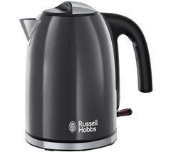 RUSSELL HOBBS Colour Plus 20414 Jug Kettle - Grey Best Price, Cheapest Prices