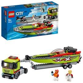 LEGO City Great Vehicles Race Boat Transporter Set - 60254 Best Price, Cheapest Prices