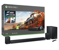 MICROSOFT Xbox One X, harman/kardon HW-N950 Sound Bar, Forza Horizon 4 & Forza Motorsport 7 Bundle Best Price, Cheapest Prices