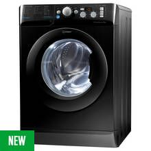Indesit BWD71453KUK 7KG Washing Machine - Black Best Price, Cheapest Prices