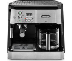 DELONGHI Combi BCO431.S Filter Coffee Machine - Silver & Black Best Price, Cheapest Prices