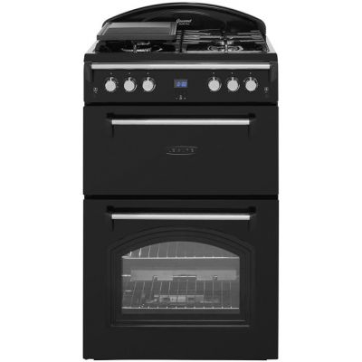 Leisure Gourmet GRB6GVK 60cm Gas Cooker with Full Width Gas Grill - Black - A+/A Rated Best Price, Cheapest Prices
