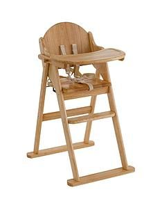 East Coast Wooden Folding Highchair - Natural Best Price, Cheapest Prices