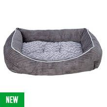 Grey Cord Square Pet Bed - Large Best Price, Cheapest Prices