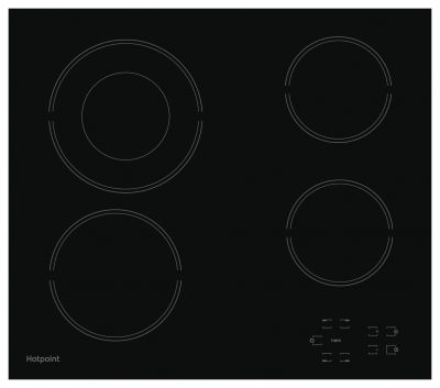Hotpoint HR612CH Electric Ceramic Hob - Black Best Price, Cheapest Prices
