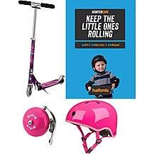 Micro Sprite Purple Stripe Kids Scooter Bundl Best Price, Cheapest Prices