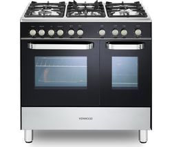 KENWOOD CK405G-1 90 cm Gas Range Cooker - Black & Chrome Best Price, Cheapest Prices