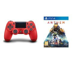 PS4 Anthem & DualShock 4 V2 Wireless Controller Bundle - Magma Red Best Price, Cheapest Prices
