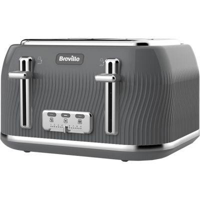 Breville Flow Collection VTT892 4 Slice Toaster - Grey Best Price, Cheapest Prices