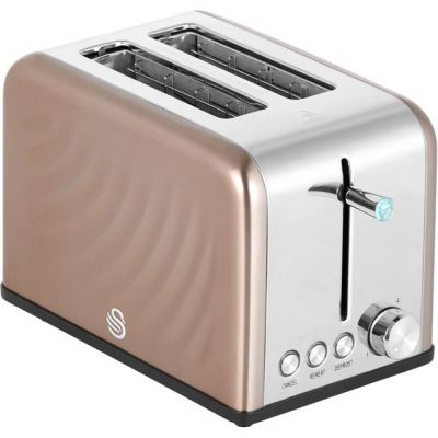 Swan ST19010TWN 2 Slice Toaster - Copper Best Price, Cheapest Prices