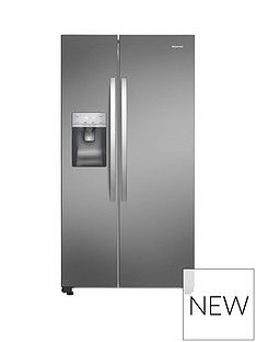 Hisense Total No Frost American Fridge Freezer Ssl With Water & Ice Dispenser. Plumbed Option Best Price, Cheapest Prices