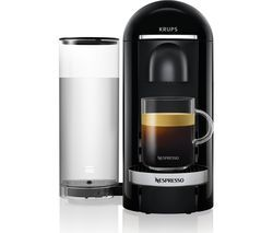 NESPRESSO by Krups Vertuo Plus XN900840 Coffee Machine - Piano Black Best Price, Cheapest Prices