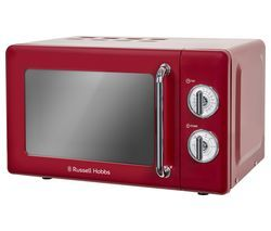 RUSSELL HOBBS RHRETMM705R Solo Microwave - Red Best Price, Cheapest Prices