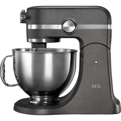 AEG Ultramix KM5540-U Stand Mixer with 4.8 Litre Bowl - Metallic Grey Best Price, Cheapest Prices