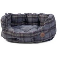 Petface Grey Tweed Oval Pet Bed - Small Best Price, Cheapest Prices