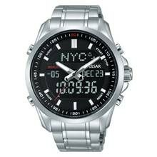 Pulsar Men's Silver Stainless Steel Digital Watch Best Price, Cheapest Prices
